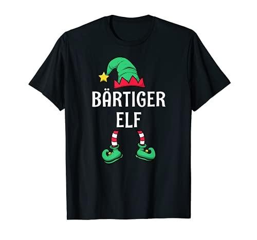 Herren Bärtiger Elf Partnerlook Familien Outfit Männer Weihnachten T-Shirt