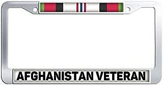 FramePro Afghanistan Veteran License Plate Frame Stainless Steel Car License Plate Frame Holder
