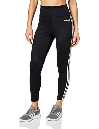 adidas Damen D2M 3-Streifen 7/8 Tights, Black/White, M