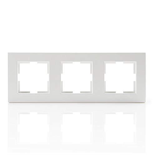 Greenice | Marco 3 Elementos Panasonic Karre Horizontal/Vertical Tecnopolímero Blanco