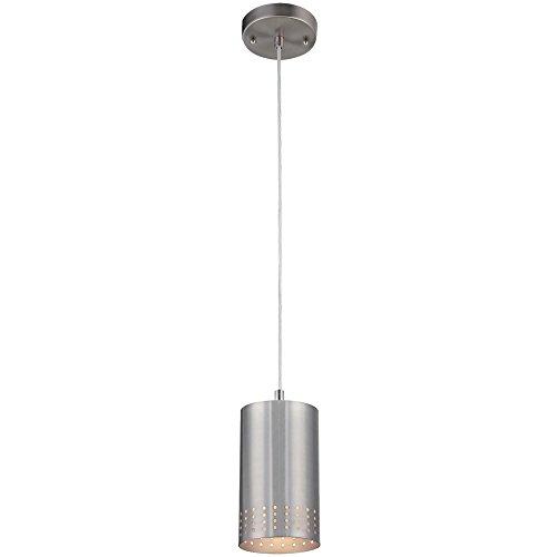 Westinghouse Lighting 6101200 Phelps One-Light Indoor Mini Pendant, Brushed Nickel