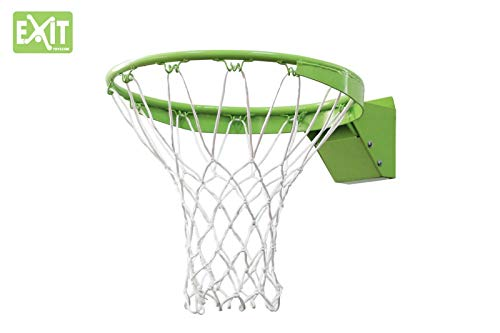 EXIT Galaxy Dunkring + Netz 46.50.30.00 / Basketballkorb mit verstärktem + flexiblen Ring mit Netz /Metall / schwarz-grün / Gewicht: 4,6 kg