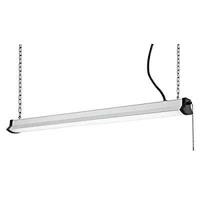 Westinghouse Lighting 6321600 36-Inch LED Indoor Shop Light Silver Finish with Frosted Lens
