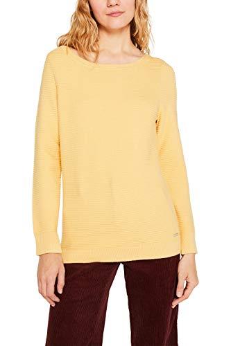 ESPRIT Damen 999Ee1I809 Pullover, Gelb (Yellow 750), Small (Herstellergröße: S)
