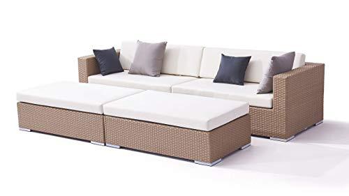 talfa Garten Lounge Polyrattan Daybed Dreamcatcher in Karamell - Dreamcatcher