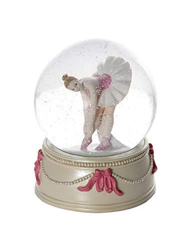 Mousehouse Gifts Pezzi da Collezione Statuine - Elegante di Neve Sfera con Neve da Collezione con Ballerina per Bambine, Regalo per Adulti o Bambini