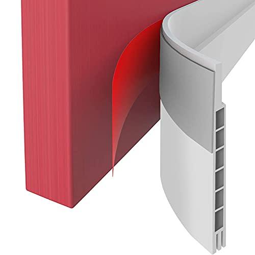 Upgraded Door Draft Stopper for Large Gap,Widened Door Sweep Seal Gap Up to 1-2/5