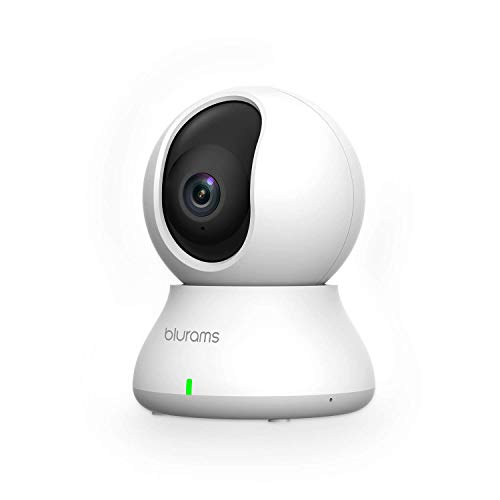 Cameras for Home Security | blurams Indoor Camera w/Motion Detection, Two-Way Audio, Night Vision, Instant Alerts | Compatible with Alexa and Google, Cloud and Local Storage Available
