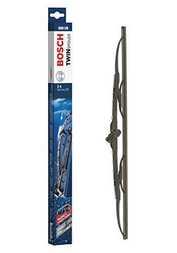 Bosch Balai d'Essuie–Glace Conventionnel Twin Spoiler 500Us, Longueur : 500mm – 1 Balai Avant