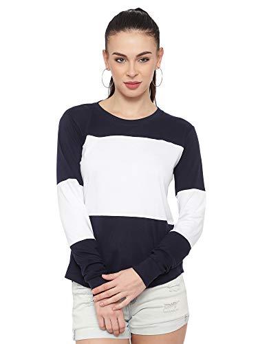 Ani's Secret Color Block Women Round Neck Multicolor T-Shirt