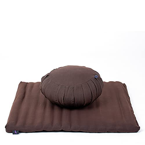 Leewadee Meditation Cushion Set Cover Removable and Washable Round Zafu Pillow and Large Square...