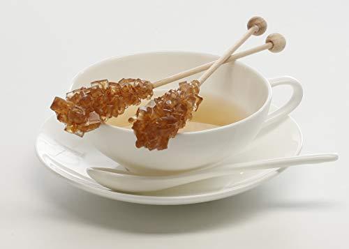 Teeparadies Löw 10 x Kandisstick braun einzeln verpackt | Zuckerstick | Kandisstangem | Zuckerstangen | Kandiszucker