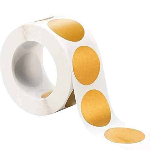 300pcs Runde Gold/Silber-Rubbel-Aufkleber 1 Zoll-Etiketten-Aufkleber For Karten Spiele Partei Hochzeit Baby-Dusche Nützlich Ist (Color : Yellow)