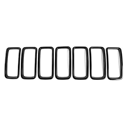 YOUWANG Cywangyoujin Adatto Adatto per Jeep Renegade 2019 2020 Inserire la griglia Anteriore, Accessori Esterni Black 7 Pack Protezione paraurti Posteriore in Lega cromata (Color : Black)