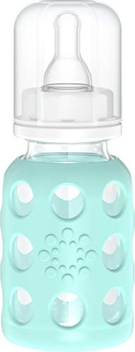 Lifefactory 4-Ounce BPA-Free Glass Baby Bottle with...