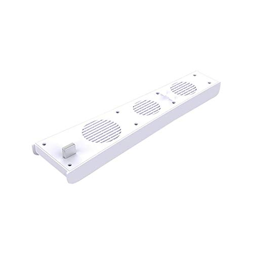 UNHU Lüfter für PS5, Externer USB-Kühler 3 Lüfter Turbo Temperaturregelung Lüfter für PS5 Gaming Console (Weiß)