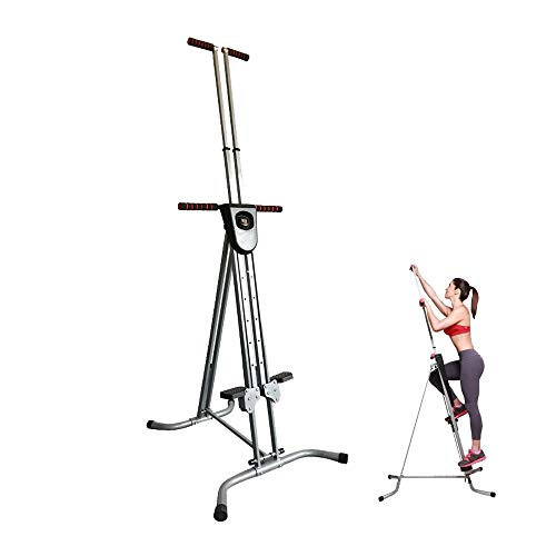 zorvo Vertical Climber Exercise Machine,Folding Vertical Climber Stepper Cardio Workout Fitness Gym Conquer【US Warehouse 5-7 Day Delivery】