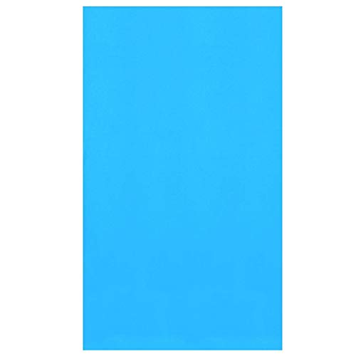 Swimline LI154820 15 Foot Round Above Ground Swimming Pool Wall Overlap Liner, Fits 48 and 52 Inch Pools, Solid Blue