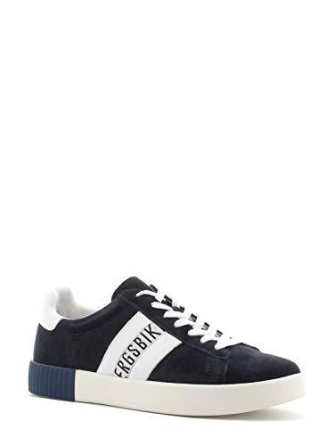 Bikkembergs Sneakers Uomo Cosmos 2434 Low Shoe M - BKE109351 Suede Leather Blue White (Blu) - 44
