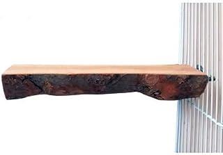止まり木りんごの木 パーチ インコ オウム 自然木 鳥 オウム 文鳥 おやすみボード 止まり台 噛むおもちゃ ケージアクセサリー (S:幅5-6cm 長さ15cm 1個入り)