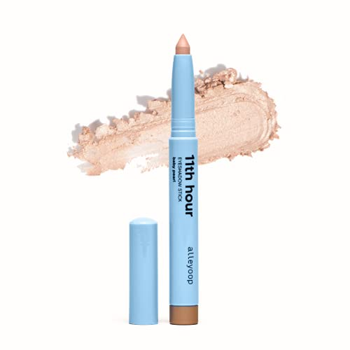 Alleyoop 11th Hour Cream Eyeshadow Sticks - Baby Pearl (Shimmer) - Award-winning - Smudge-proof and Crease Proof for Over 11 Hours - Easy-To-Apply and Compact for Travel - Cruelty-Free, and Vegan