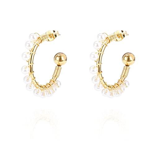 La Modeuse - Petites créoles avec petites perles nacrées