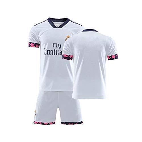 PAOFU-Conjunto de Camiseta de Fútbol para Fanáticos del Real Madrid 2020 para Hombres, Ropa de Entrenamiento de Competición de Ropa Deportiva de Fútbol para Adultos,D,XL