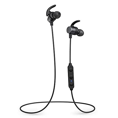 Bluetooth Kopfhörer in Ear, Bluetooth 5.0 Sportkopfhörer aptX HD Audio CVC8.0 Mikrofon IPX7 Wasserdicht 14 Stunden Wiedergabezeit 3 EQ Einstellungen Magnetisch Clip