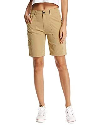 Women's outdoor Quick Dry Shorts Lightweight Spandex Convertible Hiking finshing Pants#5292
