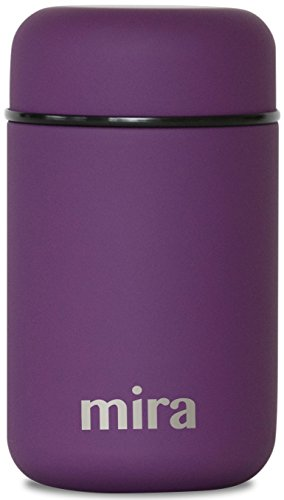 MIRA Lunch, Food Jar - Vacuum Insulated Stainless Steel Lunch Thermos - 13.5 oz - Purple