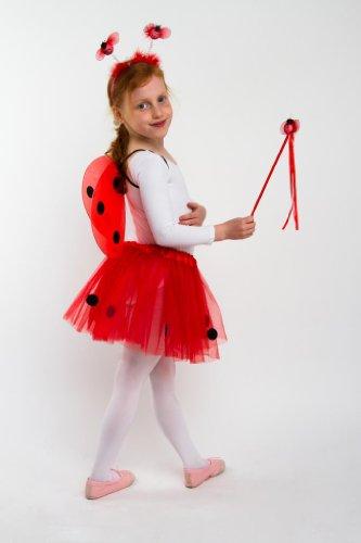 Tante Tina - traje de mariquita para las niñas - 4 pieza alas ...