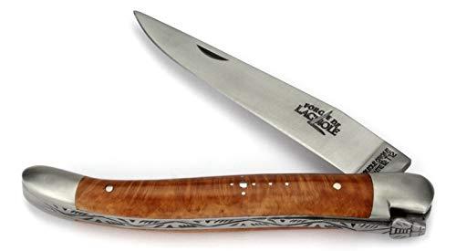 Forge De Laguiole Taschenmesser - 11 cm - Griffschalen Bruyère - Klinge 9 cm und Backen matt