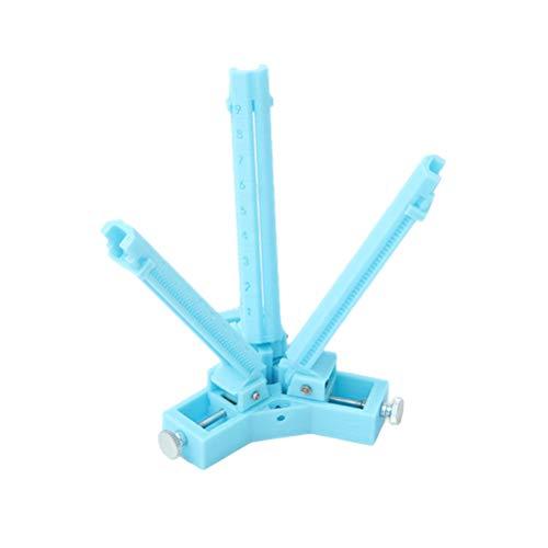 LIOOBO Tiro con Arco Fletching Jig Vanes Stick de Goma DIY Pluma Flecha Eje Herramientas Ajustables (Azul)