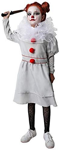 Gojoy Shop- Disfraz de Payaso Asesino para Nias Halloween (Contiene Vestido, Cuello y Pual Retractil, , 4 Tallas Diferentes) (7-9 AOS)