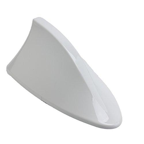 Possbay Auto Antenne Shark Haiflosse Autoantenne mit Verstärker AM FM Dachantenne (Neu Weiß)