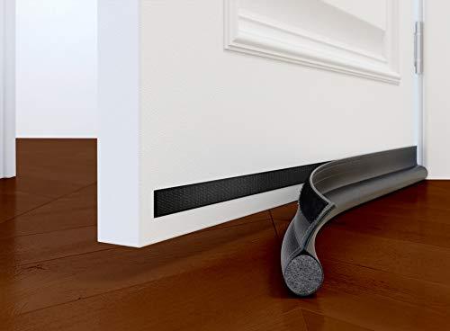 McDILS Under Door Draft Blocker - Door Draft Stopper 32 to 38 inches - Weatherproofing Door Seal Strip - Draft Stopper for Bottom of Door - Noice Reduction Sound Proof Door Draft Blocker