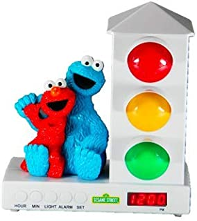 Custom Quest Sesame Street Stoplight Alarm Clock for Kids, It's Ok to Wake Clock with Cookie Monster and Elmo