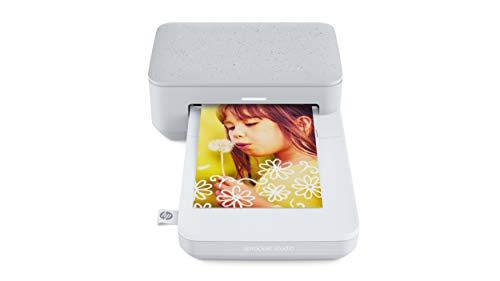 HP Sprocket Studio Impresora fotográfica instantánea portátil, Bluetooth 5.0, Formato 10 x 15, Compatible con Android e iOS, Perla