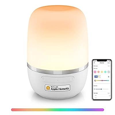 """【Siri & HomeKit】:La lámpara de cabecera meross LED puede funcionar con Apple HomeKit (iOS 13 o superior), Apple watch , Alexa, Google Assistant e IFTTT para gestionar tu dispositivo con el control de voz. Sólo di: """"Oye Siri, pon la lámpara en púrpura..."""