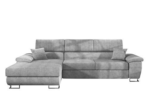 Mirjan24 Ecksofa Cotere Mini, Eckcouch Sofa Couch mit Schlaffunktion und Bettkasten L-Sofa Wohnlandschaft vom Hersteller, Polsterecke Farbauswahl (Alfa 17, Seite: Links)