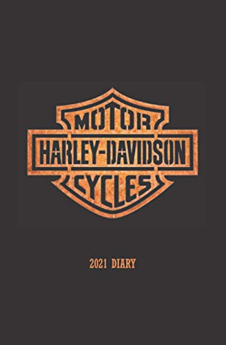 HARLEY-DAVIDSON LOGO 2021 DIARY: WEEKLY SCHEDULE PLANNER DIARY, compact 2021 agenda organizer, handy purse, bag or backpack size, ideal gift for everyone who loves motorcycles