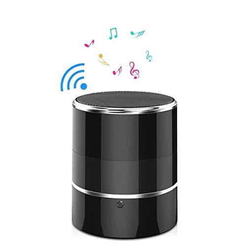 Cámara oculta WiFi cámara espía 1080P altavoz Bluetooth con lente giratoria 180° y detección de movimiento (negro)