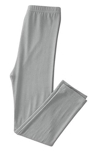 Plus Nao(プラスナオ) レギンス スパッツ タイツ ウエストゴム 子供服 こども服 キッズ ジュニア 女の子 無地 シンプル インナーウエア 高 グレー 150cm