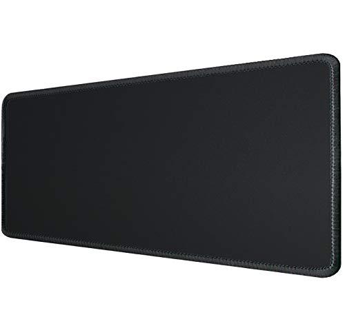Silent Monsters Mauspad Größe XL (900 x 400 mm) Mousepad Groß Design: Schwarz - Vernähter Rand geeignet für Office und Gaming Maus sowie Tastatur