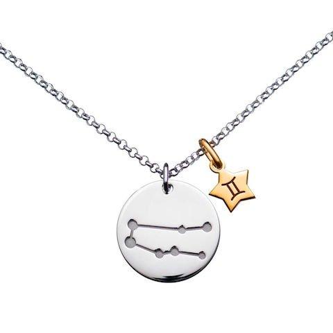 www.diamants-perles.com - Collana con simbolo zodiacale in argento 925/00, lunghezza 42 cm