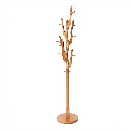Percheros QWER Creativo Simple De Bambú Dormitorio Rack Estante/Suspensiones De Suelo Tamaño: 196 * 38 Cm Colgador De Pared
