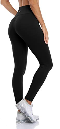 Anwell Sporthose Lang Seamless Fitneehose Für Zuhause Sportleggings Zuhause Schwarz L