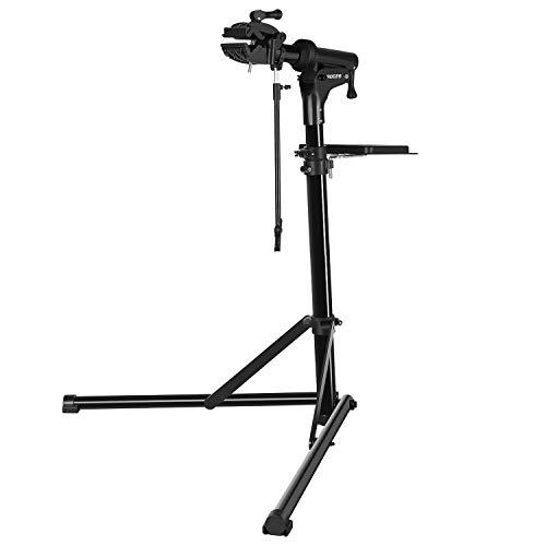CXWXC Bike Repair Stand -Shop Home Bicycle Mechanic Maintenance Rack- Whole Aluminum Alloy- Height Adjustable (rs100) (Black)