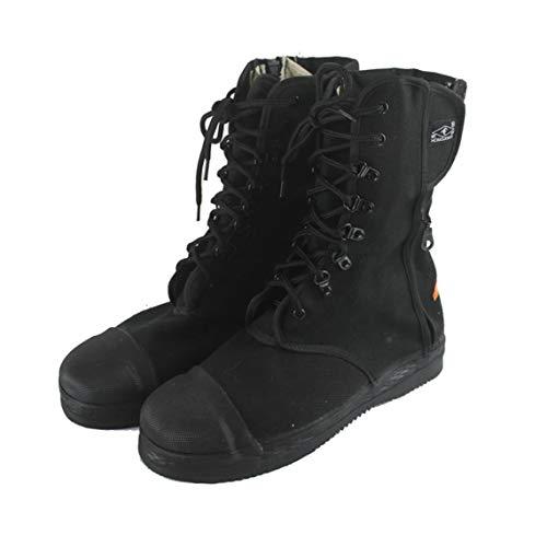Zinniaya DA-088 Komfortabler Anti-Rutsch-Feuerwehrstiefel Rettungsstiefel Schutzstiefel Feuerstiefel Labor Versicherung Schuhe Modern Black,43