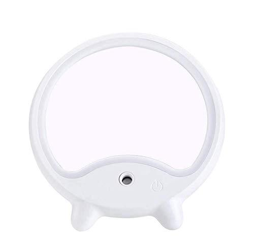 RRFZ Productos para el hogar/baño Baño Espejo de Maquillaje Led Creatividad Mini Mesa de Pedestal Humidificación Ill (Espejo de Maquillaje)
